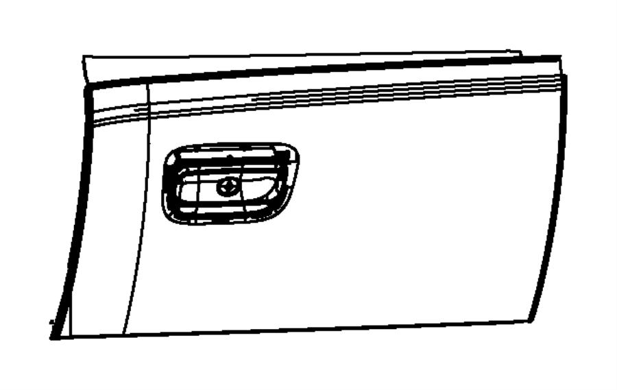 2015 Jeep Grand Cherokee Glove Box Door. Front; black