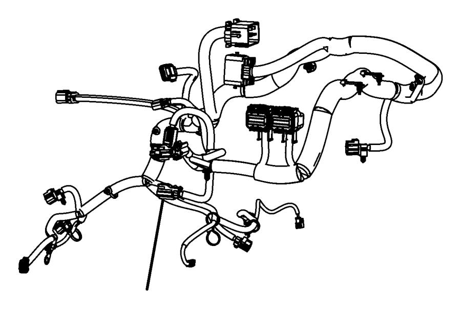 2011 Jeep Wrangler Engine harness. Engine Wiring Harness
