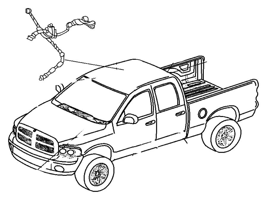 2012 Ram 3500 Header. Wire harness. Wiring. Dodge