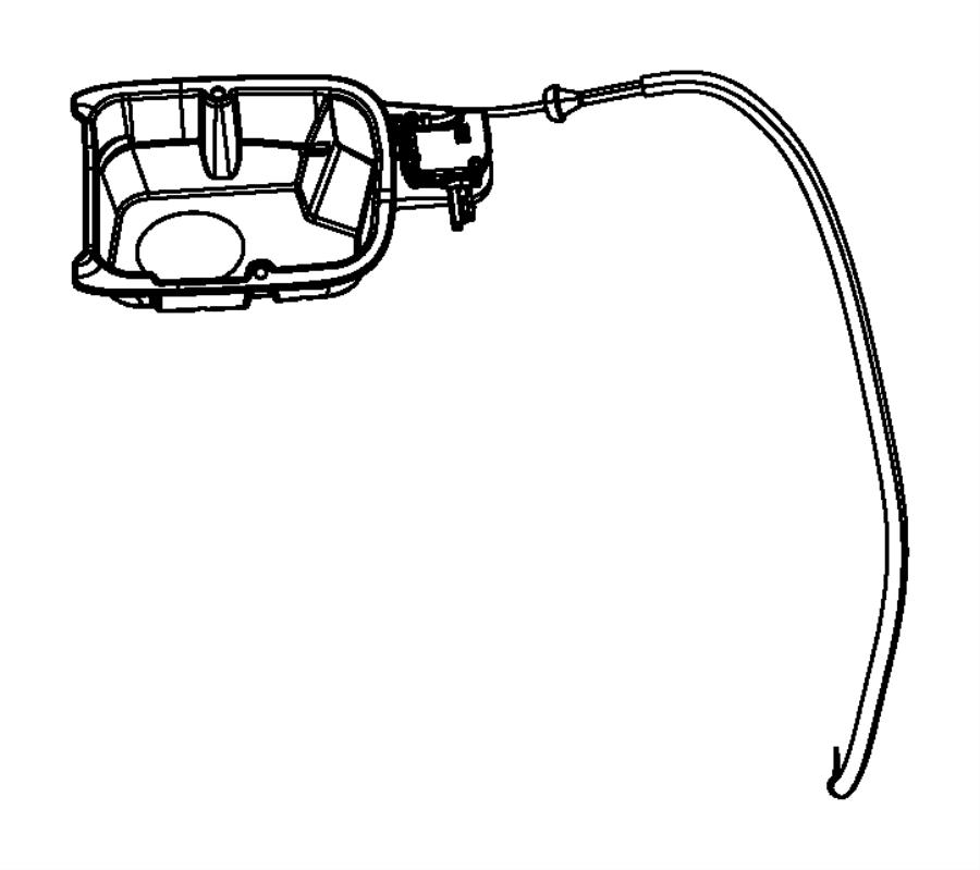 2012 Dodge Durango Fuel filler. Fuel pocket. Housing