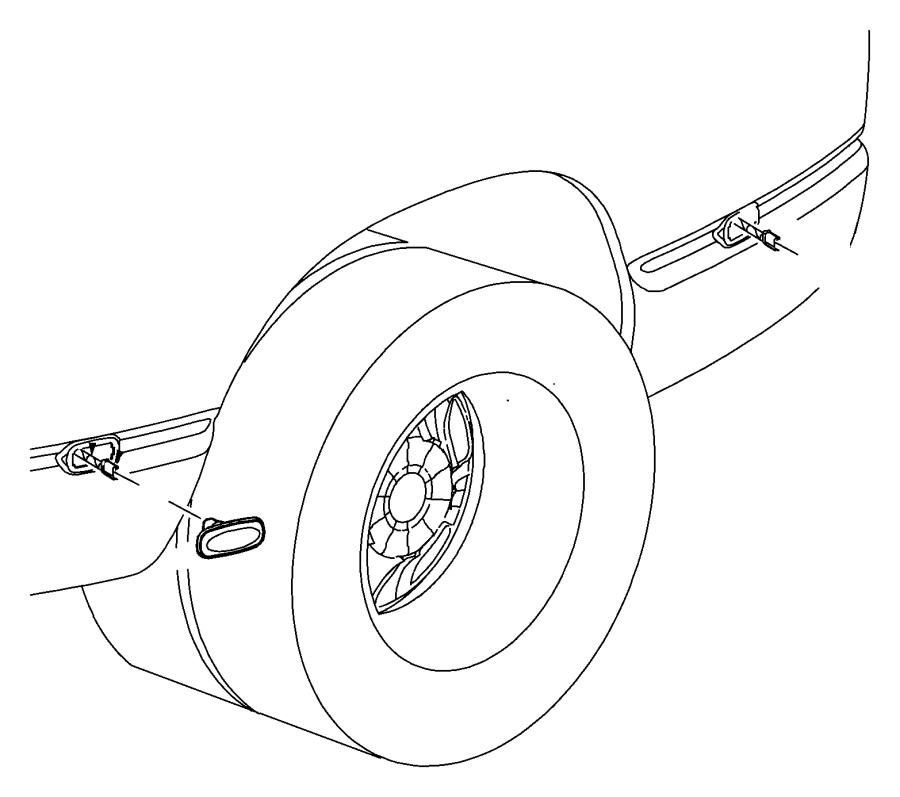 2012 Ram 3500 Fender lamp. Wire harness. Wiring. Dodge