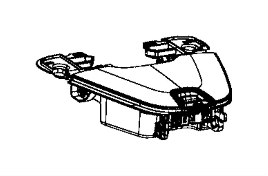 2014 Jeep Cherokee Instrument Panel Storage Compartment