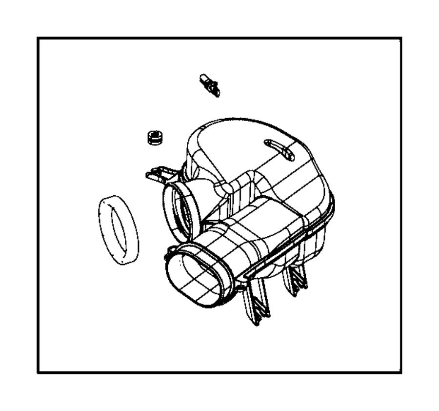 2012 Dodge Avenger Air cleaner body seal. Air Filter