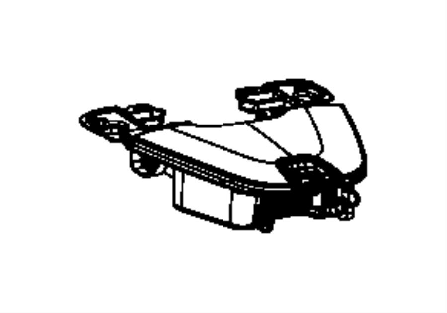 2015 Jeep Cherokee Bin. Instrument panel. Upper box