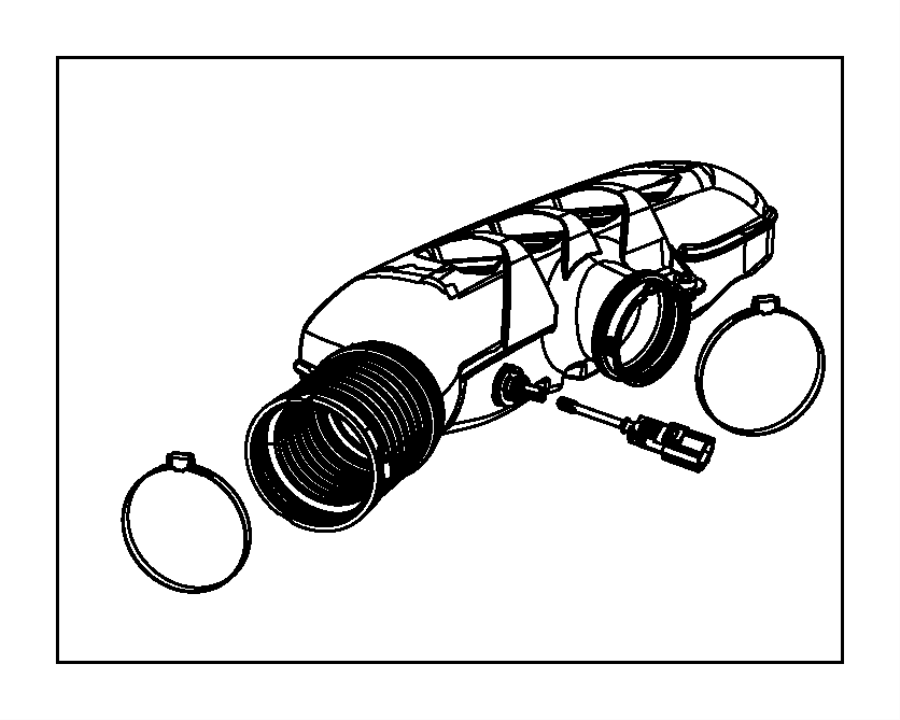 2016 Dodge Durango Engine Air Intake Resonator. Resonator