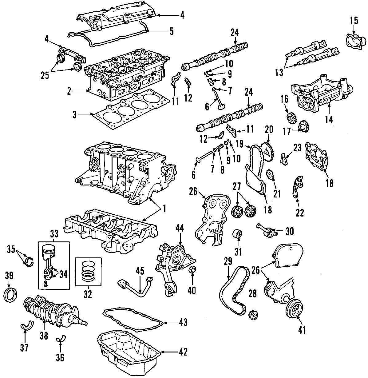 1998 Chrysler Sebring Camshaft. Engine camshaft. Intake