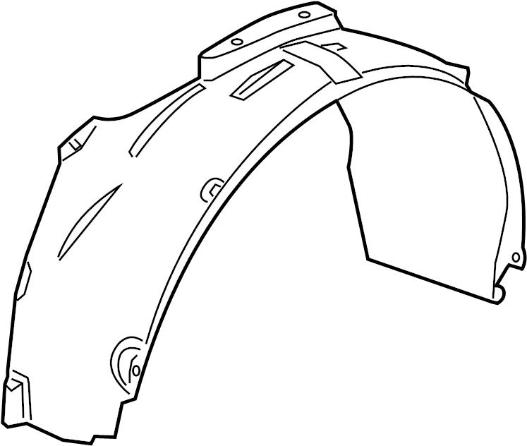 2009 Dodge Caliber Fender liner. SHIELD. SPLASH