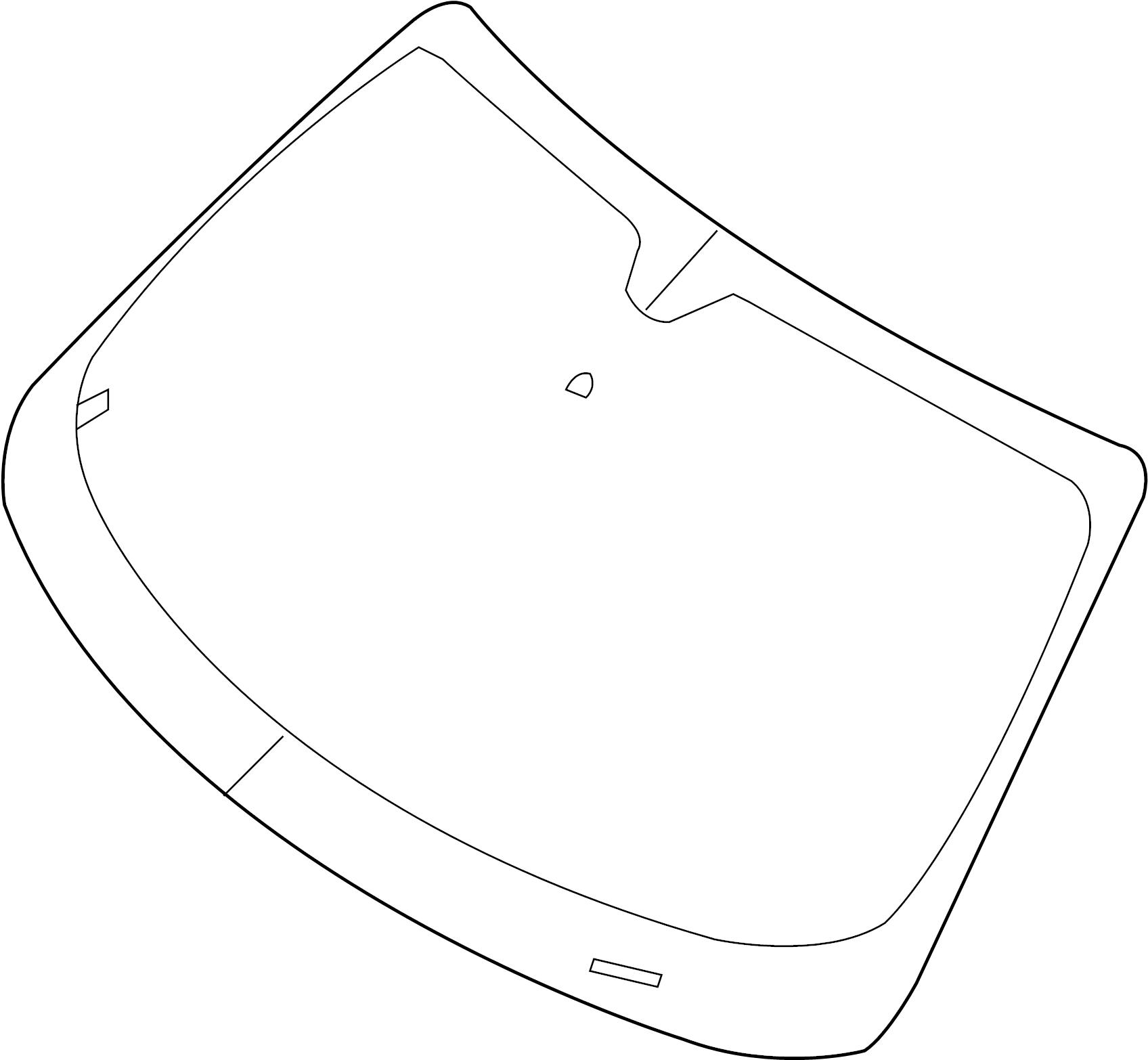 2016 Dodge Challenger Windshield. Windshield Glass. Front