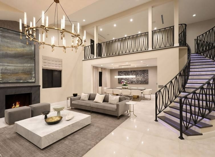 Still Think You Don T Need A Formal Living Room   Modern Living Room With Stairs   Stylish   House   Mansion   Dining Room   Sleek Modern