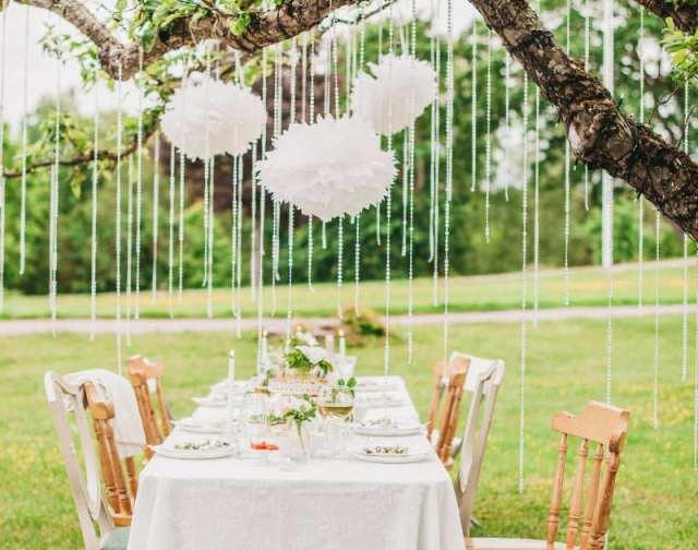 bahçe düğün dekorasyon fikirleri