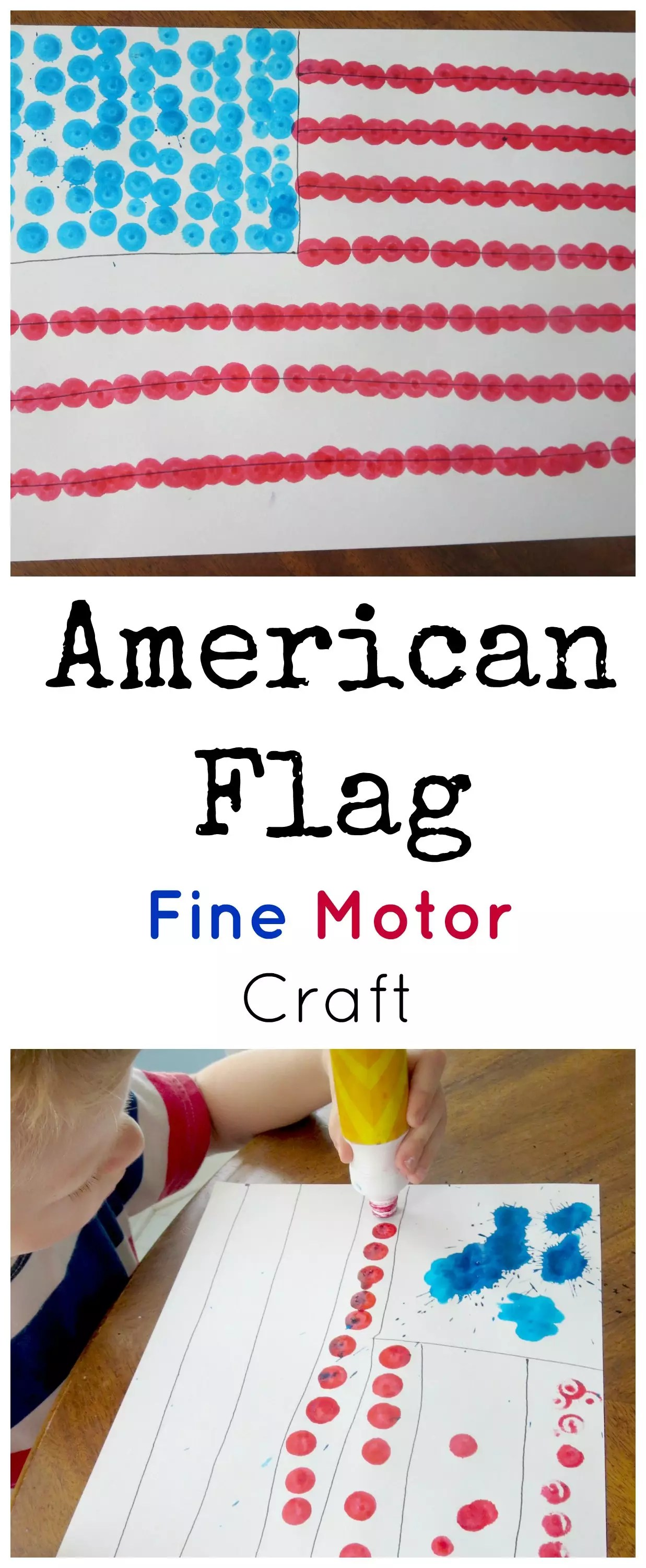 4th Of July Flag Craft With Dot Markers
