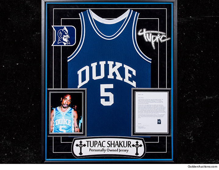 Buy Tupac s Iconic Duke Jersey. Its up for Auction with other items ... b4e85e483