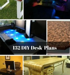 132 diy desk plans you ll love [ 800 x 1200 Pixel ]