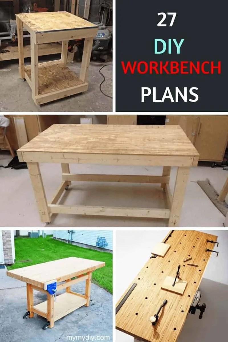 medium resolution of 27 sturdy diy workbench plans ultimate list