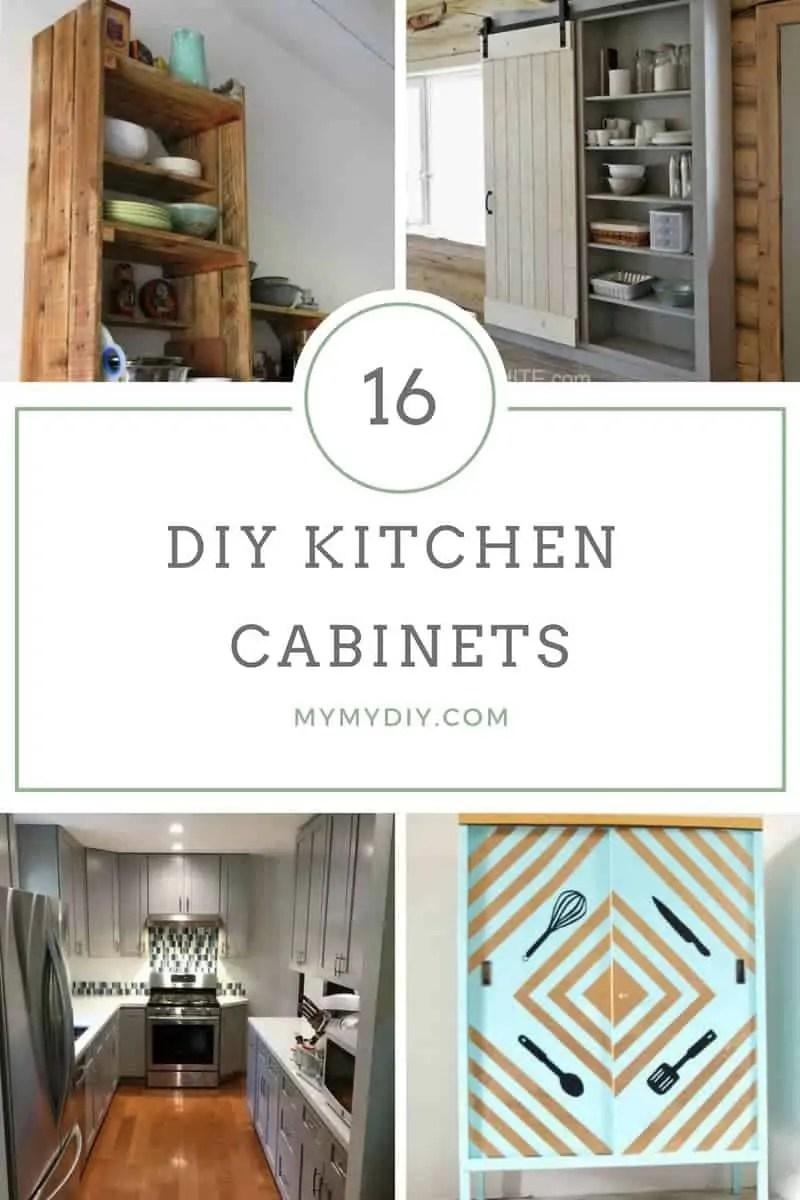 16 DIY Kitchen Cabinet Plans Free Blueprints  MyMyDIY