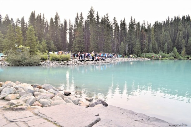 tourisme masse lake louise