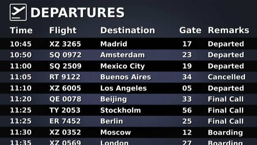 horaire en avion changement