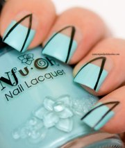 abstract nail art with negative