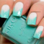 nail art - turquoise chevron ikats