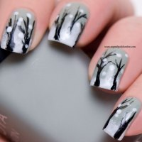 Winter nail art - It's snowing in the woods! - My Nail ...