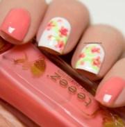 floral nail art - polish