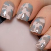 freehanded camouflage nails