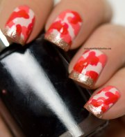 camouflage nails with funky french