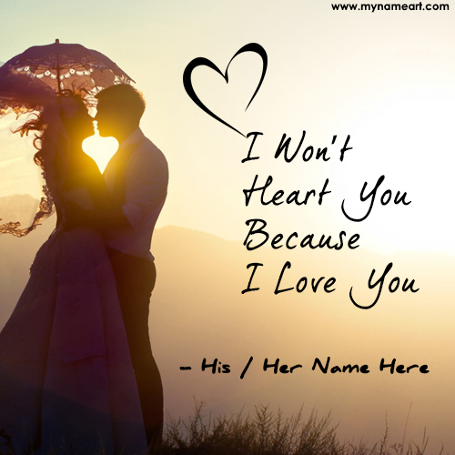 Cute Friendship Wallpapers With Messages Hindi I Won T Hurt You Because I Love You Quotes Image Edit