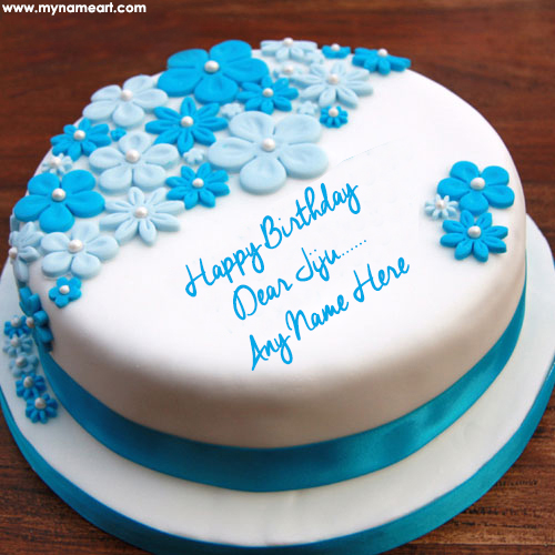 Write Jiju Name On Ice Cream Birthday Cake Pic Online