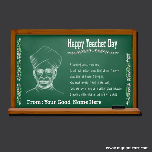 Teachers Day Image Creator Greeting Cards Maker Online