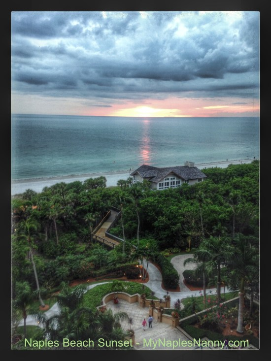 Sunset at The Ritz Carlton Naples My Naples Nanny Best Babysitting Resort Childcare and Nanny Services