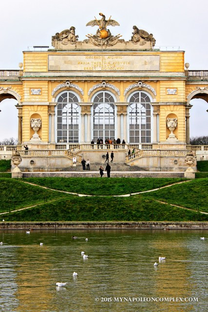 Picture of the Gloriette in Schönbrunn.