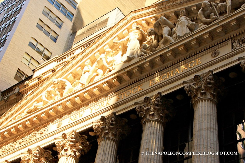 Picture of the New York Stock Exchange, NYC