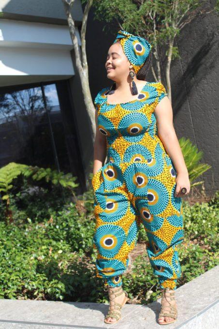 ankara jumpsuit for slim ladies