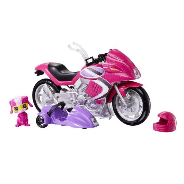 Barbie Spy Squad Secret Agent Motorcycle & Techbot Pet
