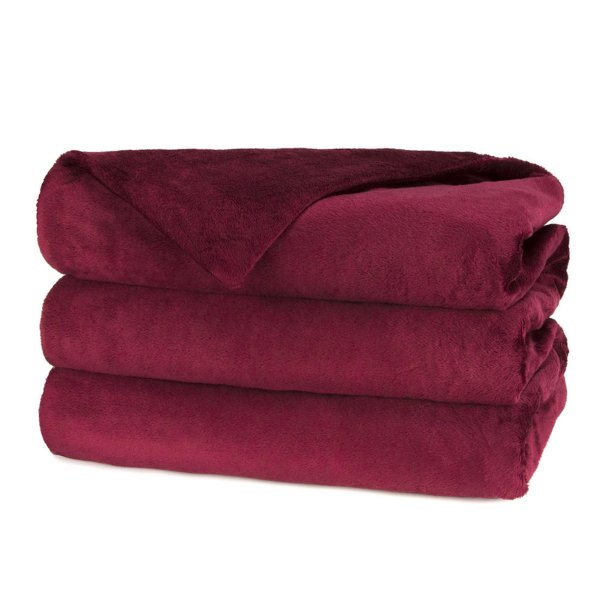 Sunbeam Quilted Fleece Electric Blanket Garnet - Queen Blankets Navy