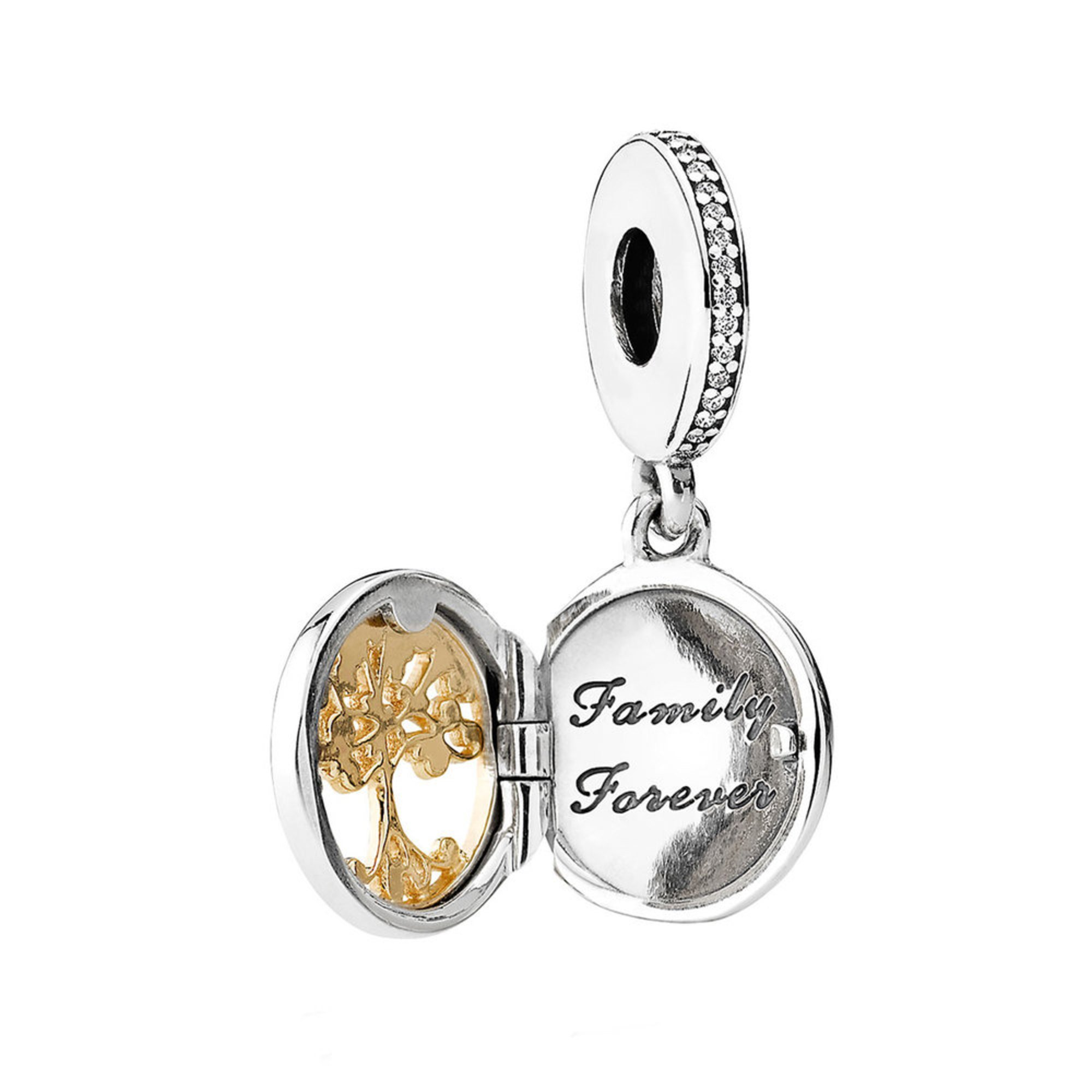 Pandora Family Roots Dangle Charm, Clear Cubic Zirconia
