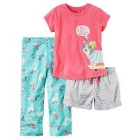 Carter's Toddler Girls' 3-piece Dog Print Pajama Set ...