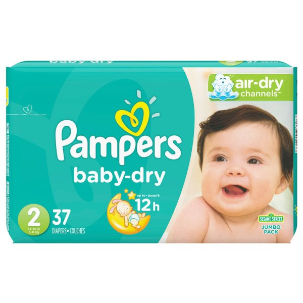 Pampers Baby Dry Size 2 Jumbo Pack 37count