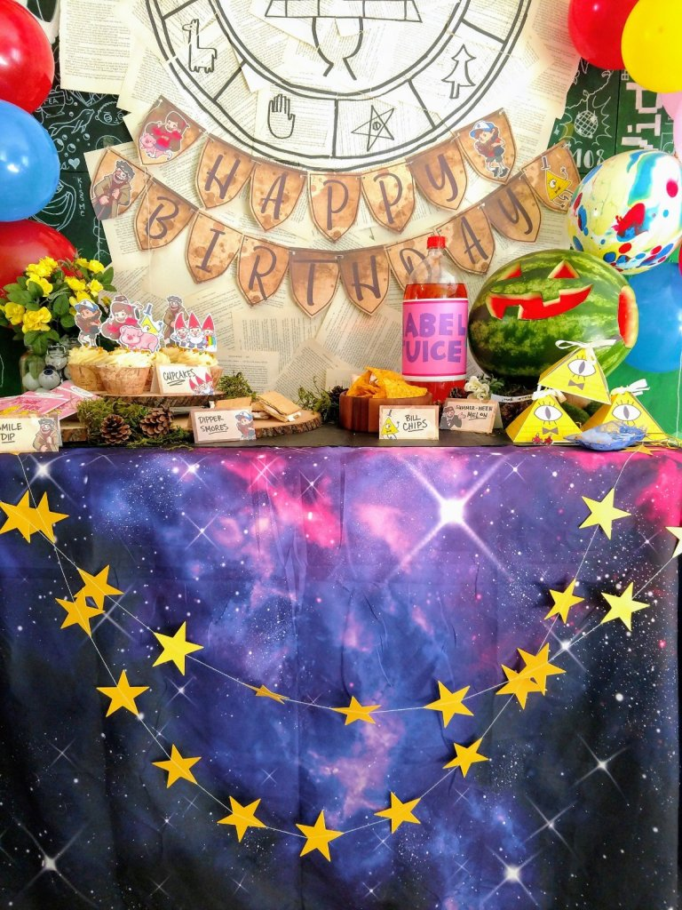 How To Plan Your Own Diy Gravity Falls Party My Nerd Nursery