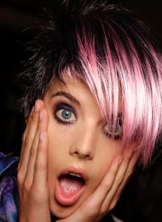 pink and black hair ideas