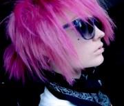 pink emo - hair