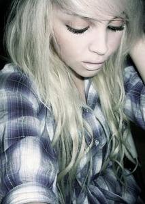 Blonde Emo Girls Hair