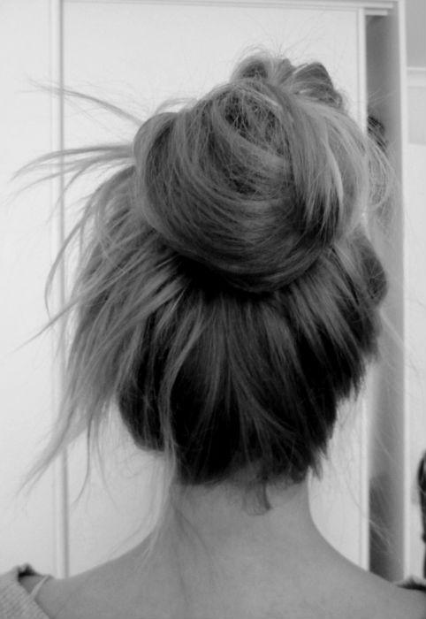 Messy Bun Top Knot My New Hair
