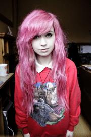 pink hair posts