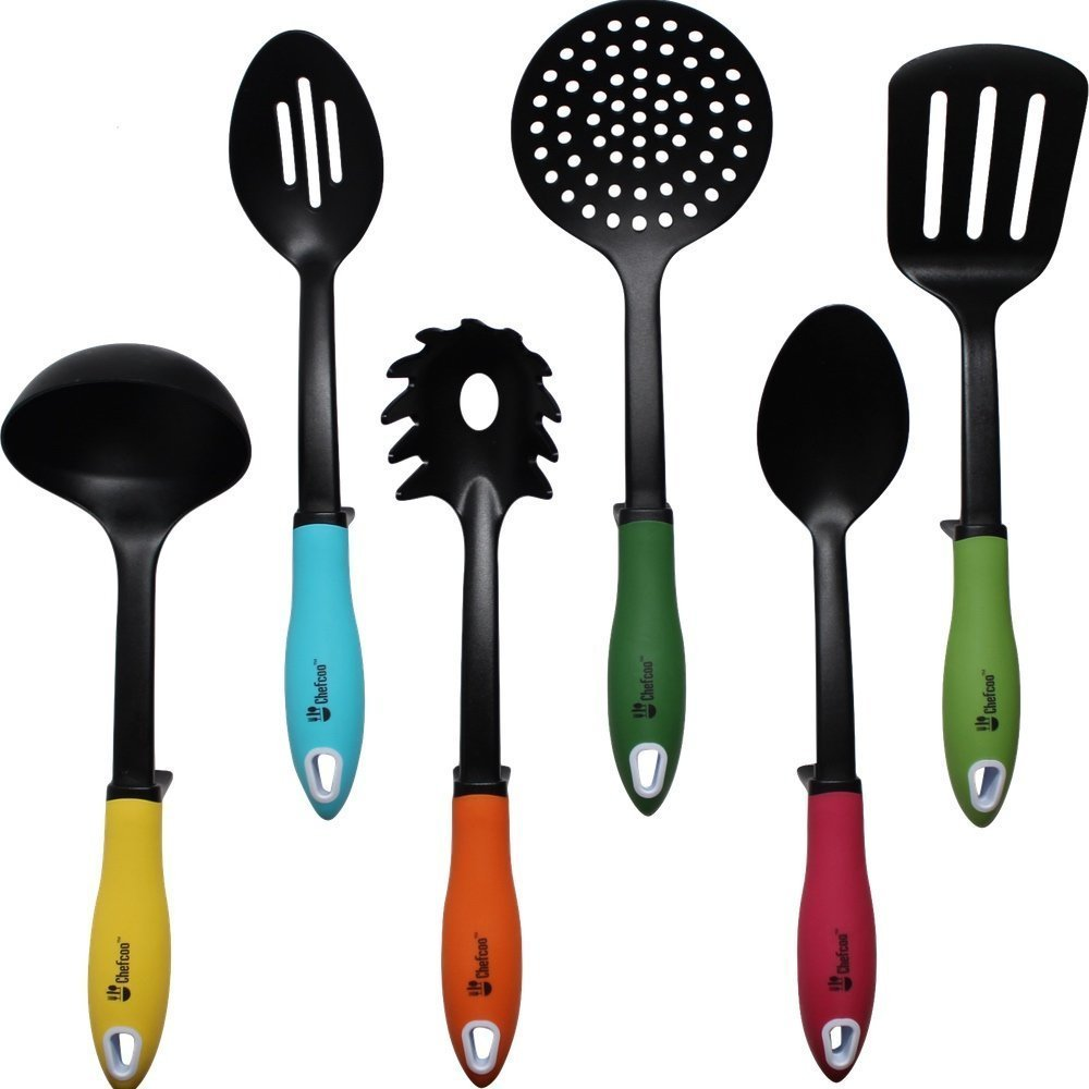 kitchen utensil sets rustic islands top 10 best cooking 2018 review utensils non stick tools set by chefcoo includes 7 pieces cookware