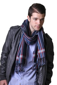Men's George Modern Multicolor Stripe Premium Natural Cotton Scarf (2 Colors)