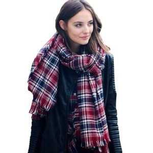 minycoo Women Stylish Soft Plaid Tartan Pashmina Large Scarf Wrap Shawl Blanket