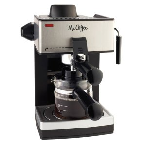 Mr. Coffee ECM160 4-Cup Steam Espresso Machine, Black