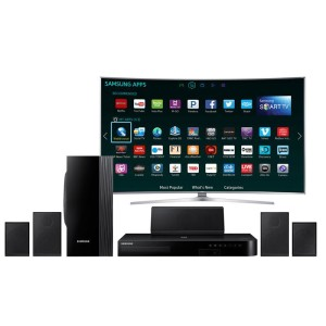 Samsung HT-J4100 5.1 Channel 1000-Watt Blu-Ray Home Theater System (2015 Model)